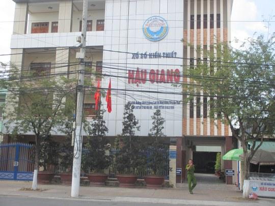 Trụ sở Công ty XSKT Hậu Giang trên đường 30-4, quận Ninh Kiều, TP Cần Thơ