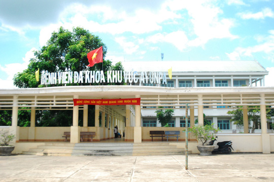 Bệnh viện đa khoa khu vực Ayun Pa - nơi các học sinh đang được điều trị
