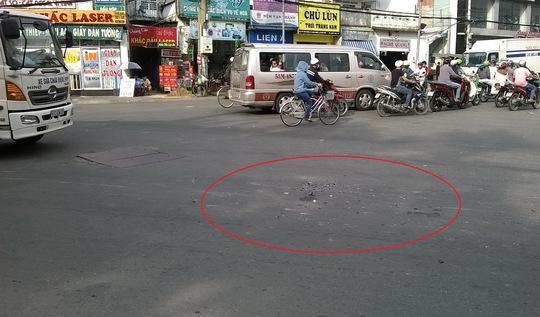 Vị trí vụ tai nạn làmnữ cán bộĐảng ủy phường tử vong.