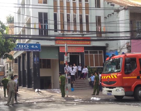 TP HCM: Cháy tại trụ sở UBND phường