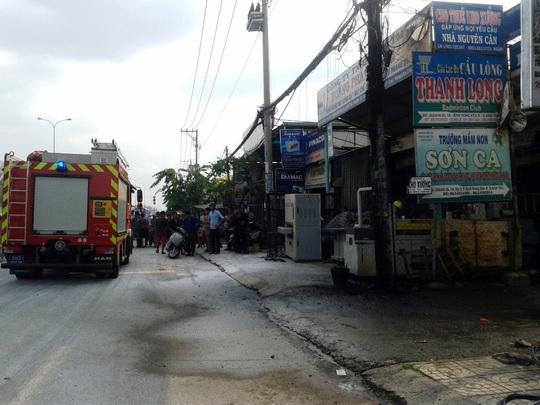 Khi lực lượng chữa cháy đến nơi, ngọn lửa đã dập tắt nên các lính cứu hỏa ra về.