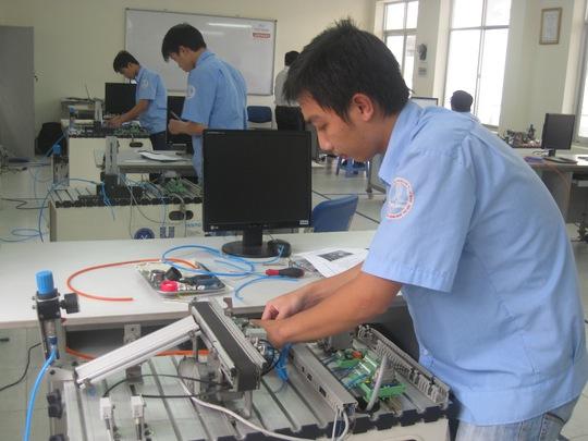 Học viên Trường nghề trong kỳ thi Tay nghề Quốc gia