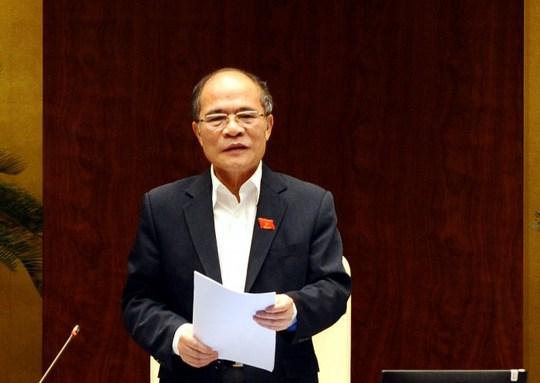 """Chủ tịch QH Nguyễn Sinh Hùng nhấn mạnh: Lá phiếu của chúng ta đánh giá phải chính xác"""""""