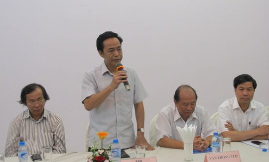 Ông Đỗ Danh Phương-Tổng biên tập Báo Người Lao Động chia sẻ thông tin tại buổi gặp mặt của Tổng LĐLĐ Việt Nam.