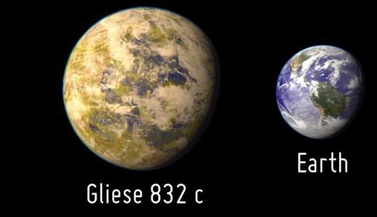 Gliese 832c lớn gấp 5 lần trái đất, nằm cách hành tinh chúng ta 16 năm ánh sáng