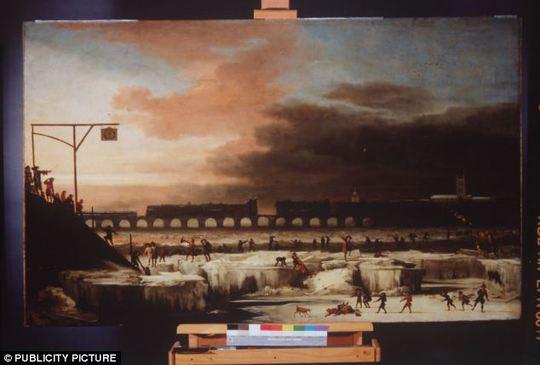 Một bức tranh sơn dầu ghi lại kỷ băng hà mini