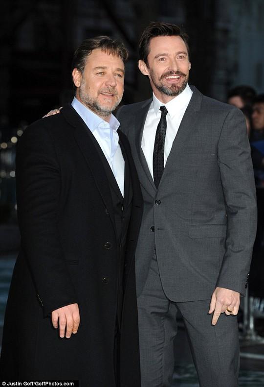 Đạo diễn Russell Crowe và Hugh Jackman