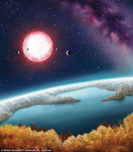 Ảnh NASA phát họa về cảnh quan trên Kepler- 186f