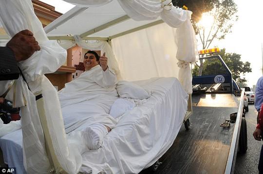 Uribe trong lễ cưới của mình