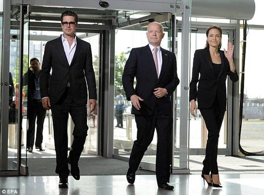 Brad Pitt, William Hague và Angelina