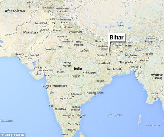 Bihar - nơi xảy ra vụ tai nạn