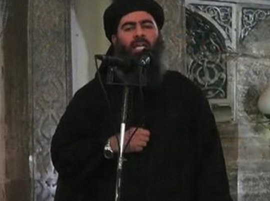 Thủ lĩnh Baghdadi bị chế nhạo vì đeo đồng hồ xa xỉ. Ảnh: Daily Mail