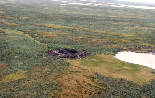 Hố xuất hiện lần đầu có đường kính gần 70 m tại bán đảo Yamal.