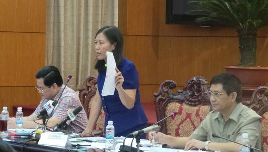 Bà Lê Thị Nga cho rằng không xem xét trách nhiệm của Trưởng Công an TP Tuy Hòa là có dấu hiệu bỏ lọt tội phạm. Ảnh: CTV