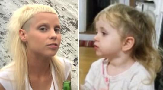 Có người còn cho rằng với kiểu tóc này, Tallulah trông rất giống nữ ca sỹ Yolandi Visser trong ban nhạc Die Antwoord của Nam Phi. Ảnh: Youtube
