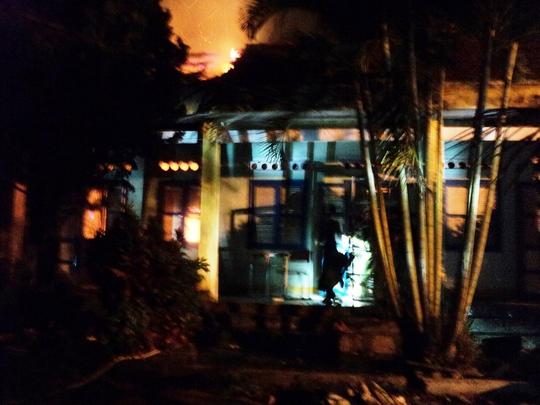 Ảnh: Hiện trường vụ cháy