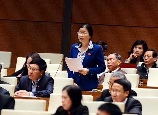ĐB Đỗ Thị Hoàng (Quảng Ninh) chất vấn về tình trạng lao động nước ngoài không phép tràn vào Việt Nam và hệ luỵ