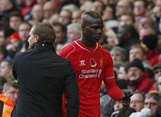 Balotelli chưa một lần ghi bàn cho Liverpool ở Giải Ngoại hạng Anh