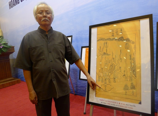 Hình vẽ Hoàng Sa rõ ràng trên bản đồ tư liệu Hán Nôm cổ của Việt Nam