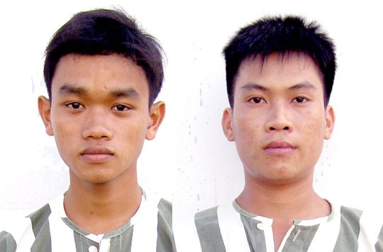 Hai đối tượng: Nguyễn Thanh Hiệp (trái), Trần Quốc Tấn