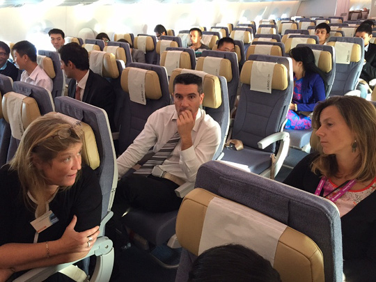 Trên chuyến bay có cả nhân viên an ninh của Airbus