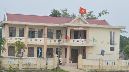 Trạm y tế xã Hồng Thủy - nơi xảy ra sự việc bệnh nhân đâm nhân viên y tế.