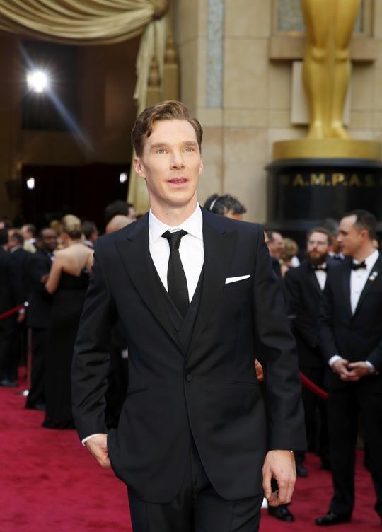 Nam diễn viên Bernedict Cumberbatch (đóng vai phụ trong phim Nebraska - một trong 9 phim được đề cử Phim hay nhất)