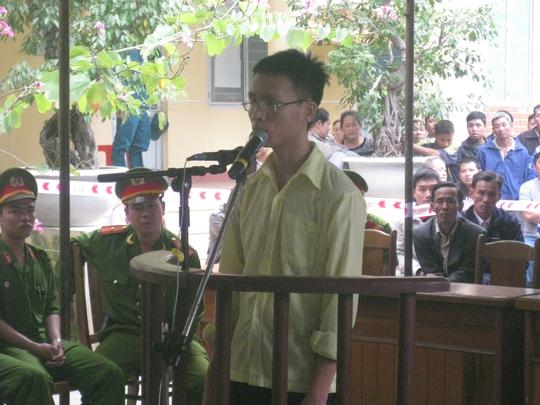 Bị cáo Tuấn tại phiên tòa sơ thẩm