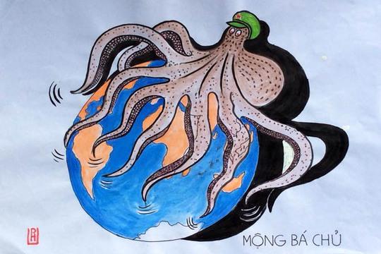 Độc đáo những bức biếm họa về Biển Đông