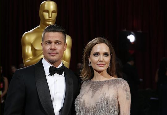 Brad Pitt và Angelina Jolie tại lễ trao giải Oscar 2014. Nguồn: Reuters