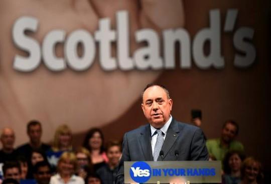 Ông Alex Salmond vận động cử tri ủng hộ Scotland độc lập