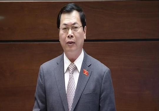 Bộ trưởng Bộ Công Thương Vũ Huy Hoàng. Ảnh chụp qua màn hình