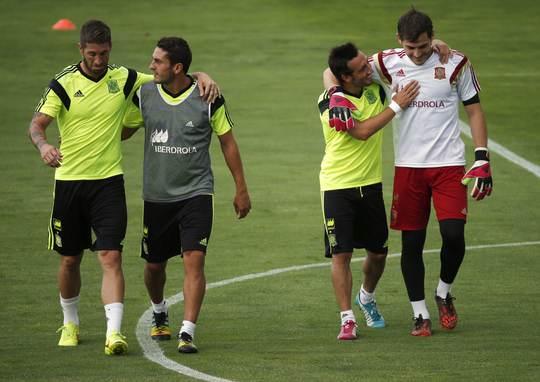 Sergio Ramos, Koke, Santi Cazorla và Iker Casillas