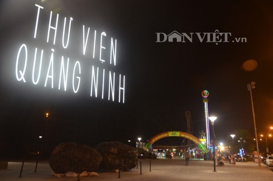 Khuôn viên thư viện Quảng Ninh - địa điểm xảy ra tai nạn