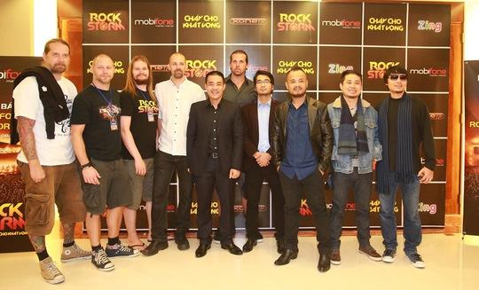 Các ban nhạc tham gia rockstorm đợt này tại Hà Nội