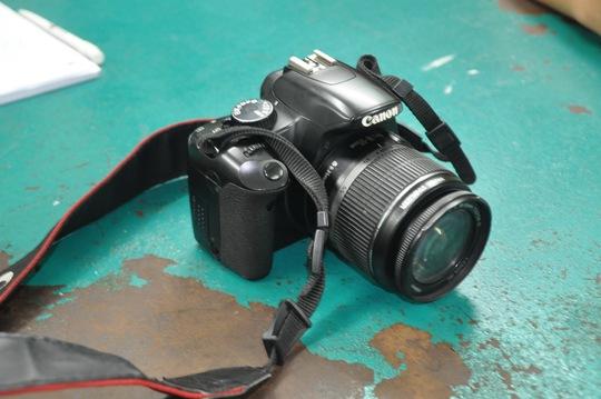 Chiếc máy ảnh của nạn nhân Hồ Thị Hiền