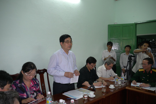 Bộ trưởng Cao Đức Phát phát biểu chỉ đạo trong chuyến thị sát
