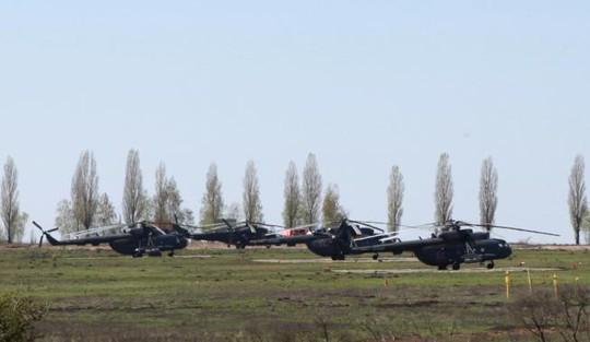 Lực lượng Nga ở biên giới Ukraine-Nga. Ảnh: Reuters