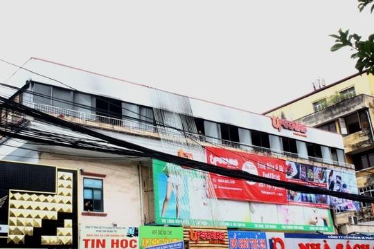 Vụ cháy xảy ra tại nhà hàng Upstairs trên tầng 3 của toà nhà