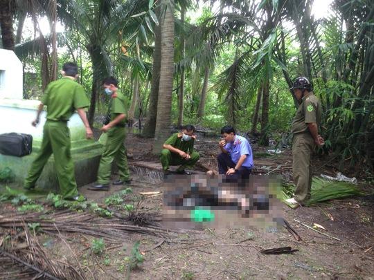 Bà Lạc được phát hiện chết sau vườn nhà