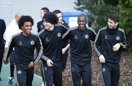 Toàn thể cầu thủ Chelsea đều rất hưng phấn dù lịch thi đấu khắc nghiệt