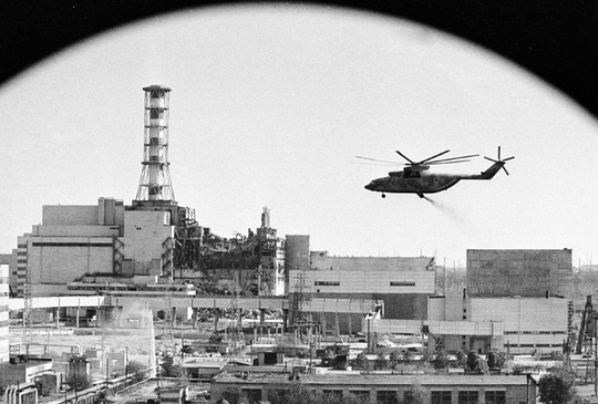 Hoạt động khử độc nhà máy điện hạt nhân Chernobyl. Ảnh: RIA Novosti