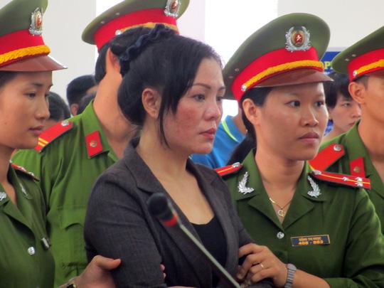 Trần Thị Doan tại phiên tòa xét xử sáng 6-7