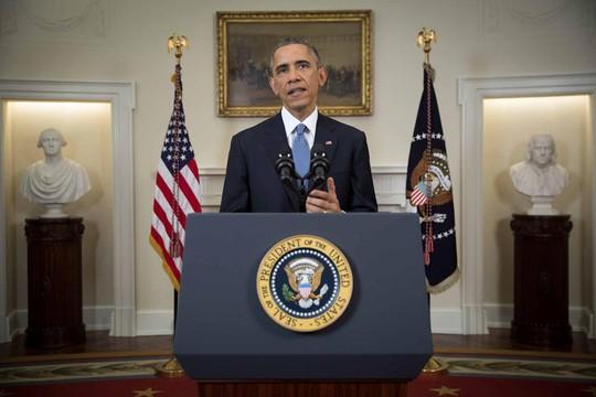 Tổng thống Obama phát biểu tại Nhà Trắng hôm 17-12 về thỏa thuận bình thường hóa quan hệ song phương với Cuba. Nguồn: AP