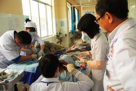Ông Trương Văn Hiếu bị thương nặng nhất trong 4 nạn nhân
