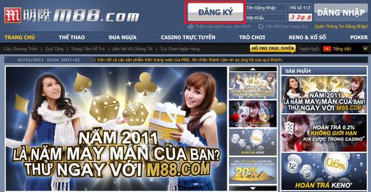 Web đánh bạc M88