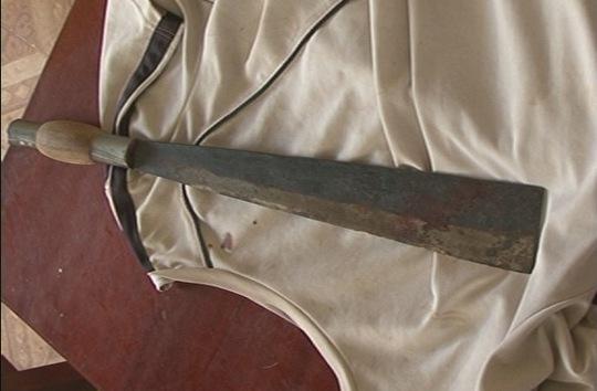 Con dao phay dùng để chém tài xế Lưu