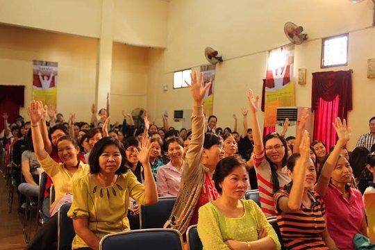 CNVC-LĐ quận 5, TP HCM hào hứng tham gia cuộc thi A lô âm nhạc