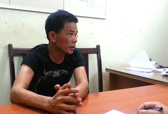 Đào Xuân Sang tại cơ quan công an