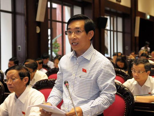 ĐB Nguyễn Văn Cảnh (Bình Định) cho rằng quy định về ưu đãi đầu tư trong dự luật cần làm rõ ưu đãi đối với sản xuất sản phẩm được nội địa hóa 100%. Ảnh: Thế Dũng